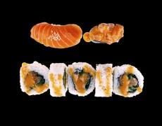 Сэт из лосося и острого соуса