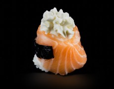 Salmon cream cheese nigiri